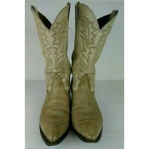 Vintage Nocona Western Cowboy Leather Boots Sz 9D